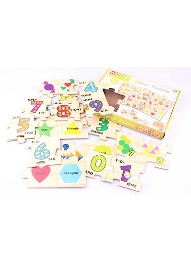Ahşap 26'lı İngilizce Rakam ve Şekil Bulmaca Seti-Learning Toys